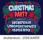 christmas font. holiday... | Shutterstock .eps vector #1526164055