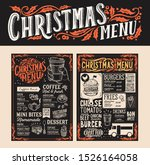 christmas and new year food...   Shutterstock .eps vector #1526164058