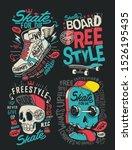 Skateboard Vector Set Design...