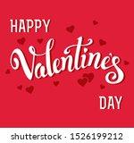 happy valentines day romantic... | Shutterstock .eps vector #1526199212