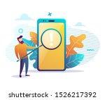 it expert holding a big... | Shutterstock .eps vector #1526217392