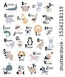 animal alphabet for kids... | Shutterstock .eps vector #1526218115