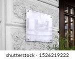 Blank Silver Glass Signboard On ...