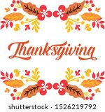 greeting card thanksgiving ... | Shutterstock .eps vector #1526219792