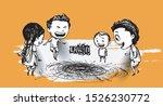 cute indian kids enjoying... | Shutterstock .eps vector #1526230772