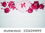 gift box hearts decor love...   Shutterstock . vector #1526244095