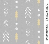 seamless christmas pattern.... | Shutterstock .eps vector #1526252072