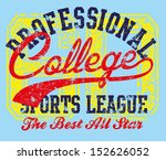 college sports design vector art | Shutterstock .eps vector #152626052