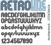 retro line stylish font  vector ... | Shutterstock .eps vector #152626616