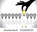 hand selecting a bright light... | Shutterstock .eps vector #152630552