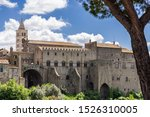 The Papal Palace and Cathedral complex in the medieval town of Viterbo, Viterbo northern Lazio, Italy