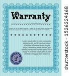 light blue warranty template....   Shutterstock .eps vector #1526324168