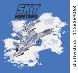 jet fighter sky blue hunter   Shutterstock .eps vector #1526364068
