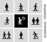 Stock vector people walking 152640518