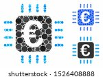 euro chip composition for euro... | Shutterstock .eps vector #1526408888