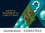 a blue abstract christmas... | Shutterstock .eps vector #1526417012