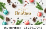 merry christmas composition... | Shutterstock .eps vector #1526417048