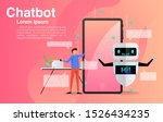 man chatting with chatbot... | Shutterstock .eps vector #1526434235