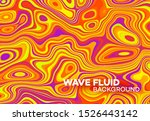 modern poster with 80 s wave... | Shutterstock .eps vector #1526443142