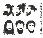 set of men's hairstyles and... | Shutterstock .eps vector #1526452355