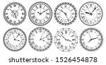 vintage clock face. retro... | Shutterstock .eps vector #1526454878