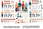 cartoon family creation kit.... | Shutterstock .eps vector #1526454905
