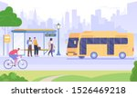 bus stop flat vector... | Shutterstock .eps vector #1526469218