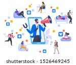 network marketing flat vector... | Shutterstock .eps vector #1526469245