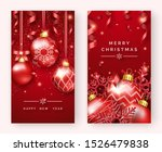 two christmas poster templates... | Shutterstock .eps vector #1526479838
