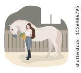 vector flat illustration with... | Shutterstock .eps vector #1526486795