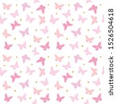 butterflies with glitter polka... | Shutterstock . vector #1526504618