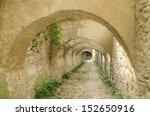 stone corridor road to an...