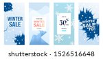 set of winter sale vector...
