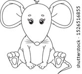 vector cute   sitting mouse ... | Shutterstock .eps vector #1526516855