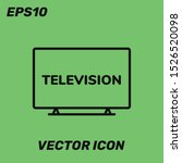 tv vector icon illustration....