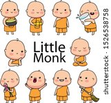 Little Buddhist Monk Wearing A...