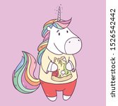 vector illustration with cute... | Shutterstock .eps vector #1526542442