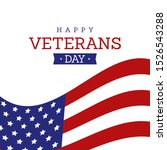 happy veterans day illustration ... | Shutterstock .eps vector #1526543288