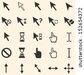 vector set of 25 cursors | Shutterstock .eps vector #152654372
