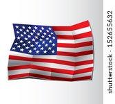 usa flag  paper art style   Shutterstock .eps vector #152655632