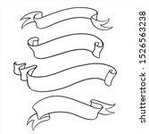 ribbons banners vector set. eps ... | Shutterstock .eps vector #1526563238