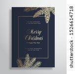 merry christmas abstract vector ... | Shutterstock .eps vector #1526614718
