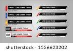 lower third tv news bars set... | Shutterstock .eps vector #1526623202