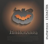 vector halloween pumpkin bat... | Shutterstock .eps vector #152662586