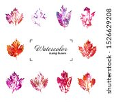 collection of ink printing... | Shutterstock . vector #1526629208