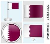 qatar flag   set of various... | Shutterstock .eps vector #152663822