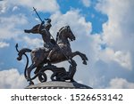 A Knight Statue On A Horse...