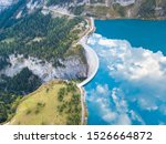 Water Dam And Reservoir Lake In ...