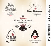 christmas and new year symbols... | Shutterstock .eps vector #152666726
