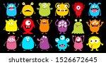 monster colorful silhouette... | Shutterstock .eps vector #1526672645